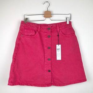 Noisy May hot pink denim skirt - Size large